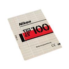 Nikon F 100 Instructions Manual