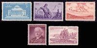 1954 Year Set of 5 Commemorative Stamps Mint NH - Stuart Katz