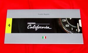 Ferrari California - RARE Owners Handbook Supplement - 2008 - Italian Text