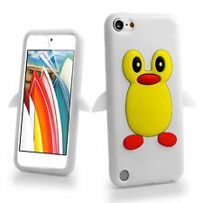 Cute White Penguin Silicone Gel Case Cover For Apple iPod Touch 6th Generation
