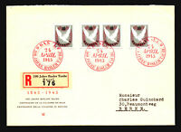 Switzerland B144a (Pair & 2 Singles) on Basel 100th Ann. Cover - Z14778