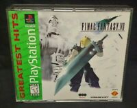 Final Fantasy VII 7 RPG Squaresoft  Playstation 1 2 PS1 PS2 Game Rare Tested