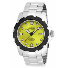 New Mens Invicta 17088 Pro Diver Automatic Lime Green Dial Steel Bracelet Watch