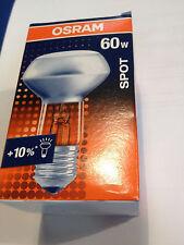 Neuf Osram Concentra Réflecteur 60W E27 230V Lampe à R63 Projecteur Spot 30°