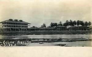 1909 PANAMA RPPC POSTCARD: SCENE OF COLON HOSPITAL