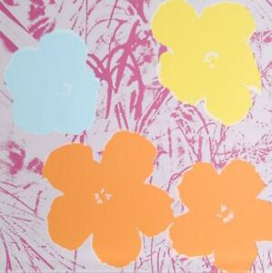 Andy Warhol, Flowers 8, Screenprint, Stamped in Blue verso by Sunday B. Morning