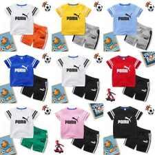 Children Kids Short Sleeve Summer T-Shirt Tee Tops+Short Pants 2PCS Sportsuit