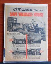 1959  Case - hay magazine advertising ad - Baler Harvester Mower Windrower Rake