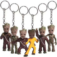 Guardians of Galaxy Baby Groot Tree Man Figure Keychain Keyring Kids Toy Gift