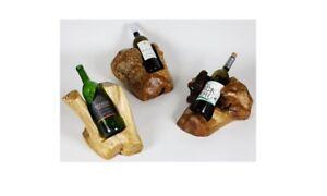 Handmade wood Carved artistic Christmas gift wine bottle holder, Rack, Stand...