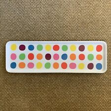 Ikea Barbar Serving Tray Rainbow Multicolor Polka Dot Cheese Circus Party rare