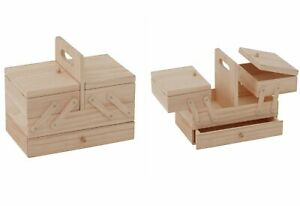 Trimits Wooden Cantilever Sewing Box Storage - Drawer Crafts Gift