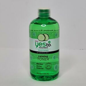 Yes To Cucumbers, Soothing Calming Toner 12 fl oz Sensitive Skin New Sealed
