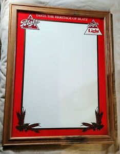 Vintage Blatz Beer Whiteboard Dry Erase Sign Brewery Alcohol Advertising