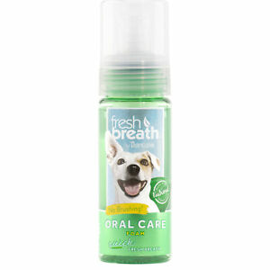 TropiClean Fresh Breath Instant Foam Cat and Dog Dental Care Mint 4.5 oz