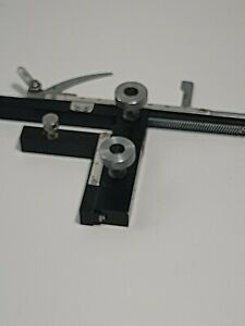 Microscope Attachable Mechanical Stage X-Y Moveable Caliper