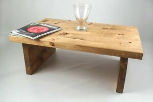 Coffee Table, Chunky Table, Rustic Handmade Solid Wood