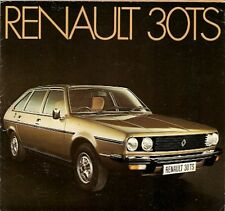 Renault 30 TS 2.7 V6 1975-76 UK Market Launch Foldout Sales Brochure