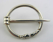 Scottish Ola Gorie Silver Penannular Brooch Pin