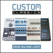 Custom Classic Vintage Retro Drum Machine Loops (24-Bit WAV) Roland E-mu Linn...