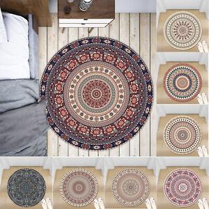 Retro Bohemia Non-slip Round Soft Area Rug Floor Carpet Door Mat Home Decor