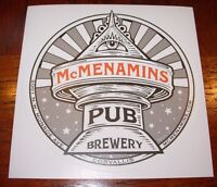 MCMENAMINS BREWERY promo LIGHTHOUSE BREW PUB STICKER decal craft beer brewing
