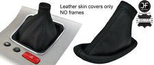 BLACK STITCH REAL LEATHER GEAR & HANDBRAKE BOOT FOR ALFA ROMEO 159 2005-2011