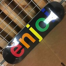 New Enjoi Spectrum Black Skateboard Deck - 8.25in