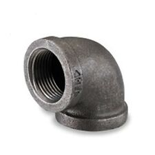 "3/4"" INCH MALLEABLE BLACK IRON PIPE THREADED 90° ELBOW FITTINGS PLUMBING"