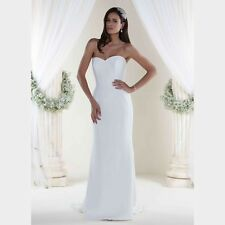 Sassi Holford Jessica Wedding dress Size 12 Ivory 100% Pure SILK Simple elegant