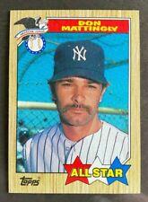 Topps 1987 Season Don Mattingly Baseball Cards For Sale Ebay