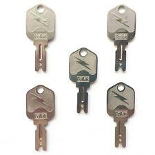 (5) Pollak OEM Forklift Keys fits Clark Yale Hyster Komatsu Gradall Gehl Crown