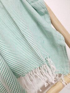 XL Badetuch, Strandtuch Saunatuch 100% Baumwolle, leicht & schnelltrocknend,grün