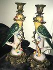 antique+porcelain+parakeet+candle+holder