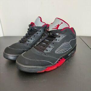 Nike Men's Air Jordan 5 Retro Low Alternate 90 819171-001 Black/red US 10 UK 9