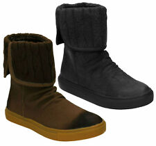 SALE £5.99 LADIES DOWN TO EARTH F50022 KNITTED TOP FLAT CASUAL WINTER BOOTS