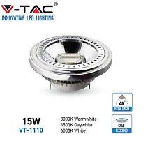 FARETTI LED COB 15W G53 AR111 INCASSO V TAC VT-1110 40° 4257/4256/4255 FARETTO