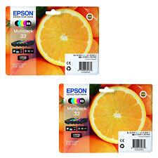 2 Sets of T3337 Genuine Epson Premium XP-530 XP-630 XP-635 XP-830 Ink Cartridges
