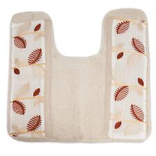 Bathroom Contour Toilet Commode Rug Popular Bath Alysia Ivory Leaf Collection