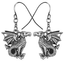 Leviathan Medieval Perching Dragon Dangling Set Earrings Jewelry 2908