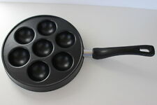 Nordic Ware Ebelskiver Cast Aluminum Non-stick Pan for 7 Danish Filled Pancakes