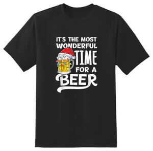 Its The Most Wonderful Time Beer Xmas Christmas Adult Unisex Novelty T shirt