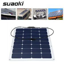 Suaoki 100W Solar Semi Flexible Monocrystalline Panel MC4 RV Boat Module Power