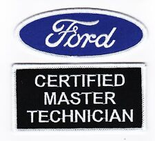 FORD CERTIFIED TECH MASTER SEW/IRON ON PATCH EMBROIDERED BADGE MUSTANG