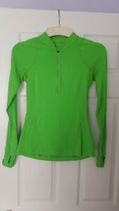 Lululemon 1/2 Zip Reflective Long Sleeve Athletic Running Top Women's Size 4