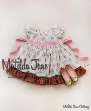 Matilda Jane FloweredLittle Prairie Peasant Dress Size 8, Platinum,nwot