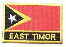 East Timor Embroidered Sew or Iron on Patch Badge