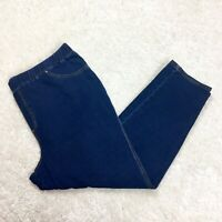 Size 2X CATHERINES Knit Pull On Blue Jeans Pants Jeggings Women's Plus 22/24W