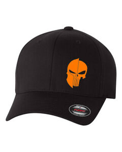 PUNISHER AND SPARTAN WARRIOR FLEXFIT HAT CURVED  FLAT BILL *FREE SHIPPING in BOX