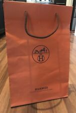 Authentic HERMES Paper Shopping / Gift Bag. 11x17x4. Orange